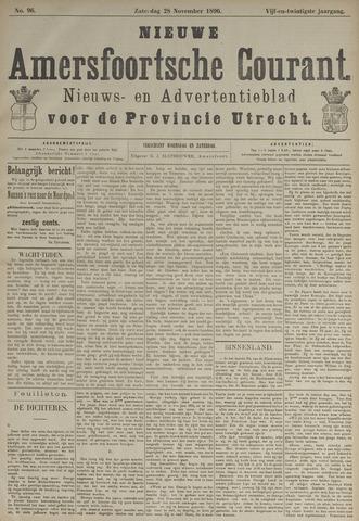 Nieuwe Amersfoortsche Courant 1896-11-28