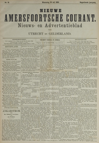 Nieuwe Amersfoortsche Courant 1890-07-30