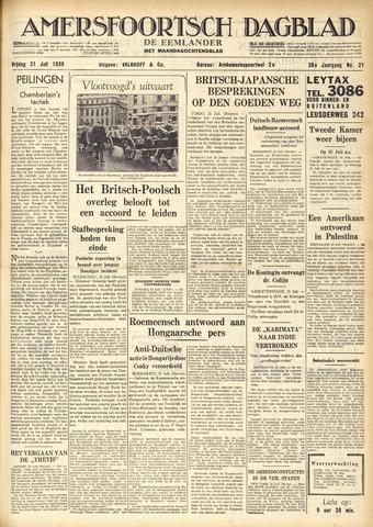 Amersfoortsch Dagblad / De Eemlander 1939-07-21