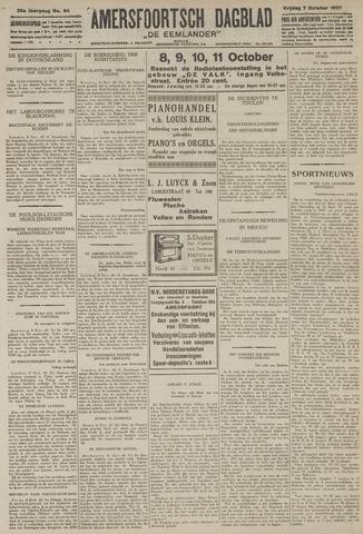 Amersfoortsch Dagblad / De Eemlander 1927-10-07