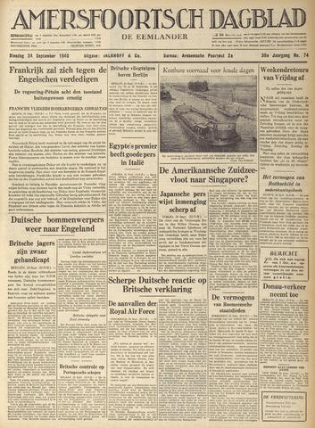 Amersfoortsch Dagblad / De Eemlander 1940-09-24