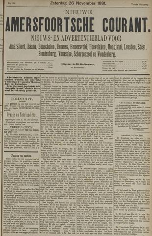 Nieuwe Amersfoortsche Courant 1881-11-26