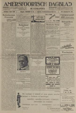 Amersfoortsch Dagblad / De Eemlander 1934-04-07