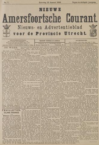 Nieuwe Amersfoortsche Courant 1910-01-22