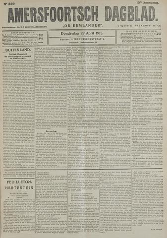 Amersfoortsch Dagblad / De Eemlander 1915-04-29