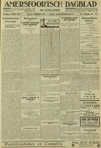 Amersfoortsch Dagblad / De Eemlander 1933-03-11