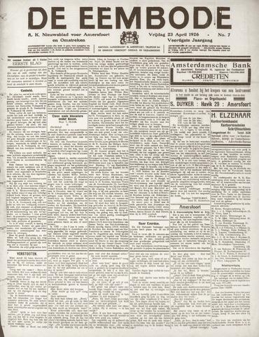 De Eembode 1926-04-23