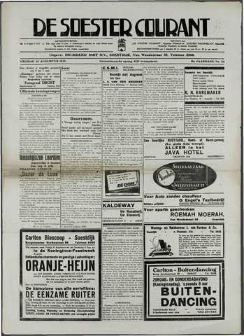 Soester Courant 1939-08-25