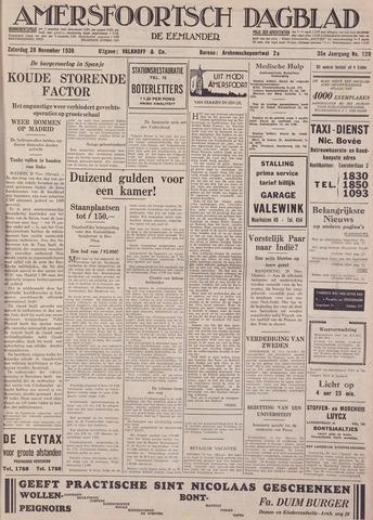 Amersfoortsch Dagblad / De Eemlander 1936-11-28
