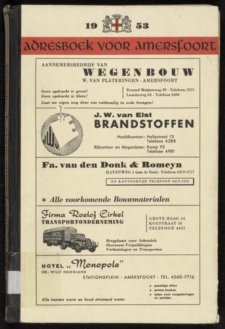 Adresboeken Amersfoort 1953