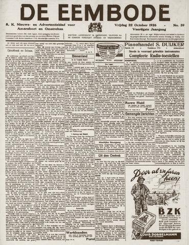 De Eembode 1926-10-22