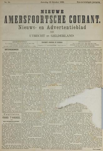 Nieuwe Amersfoortsche Courant 1892-10-22