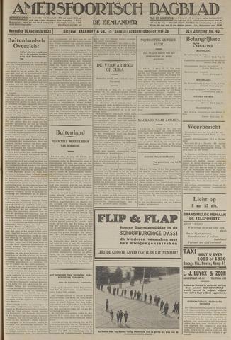 Amersfoortsch Dagblad / De Eemlander 1933-08-16