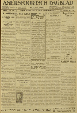 Amersfoortsch Dagblad / De Eemlander 1933-04-04