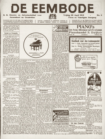De Eembode 1928-04-20