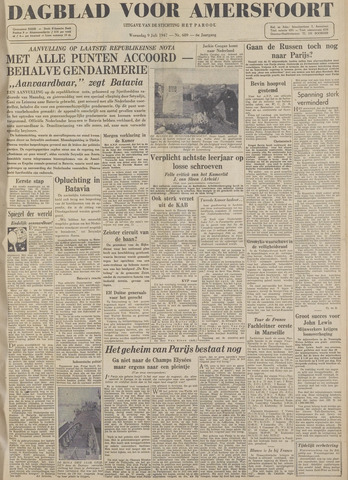 Dagblad voor Amersfoort 1947-07-09