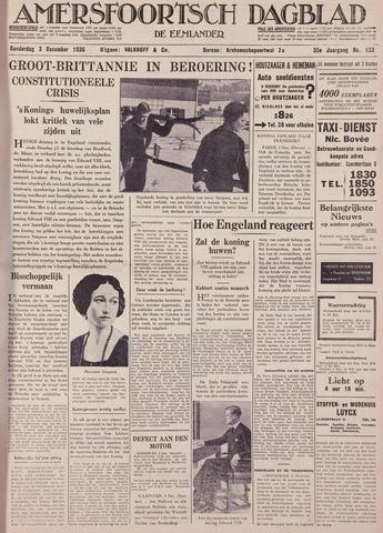 Amersfoortsch Dagblad / De Eemlander 1936-12-03