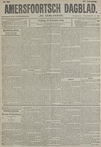 Amersfoortsch Dagblad / De Eemlander 1914-02-13
