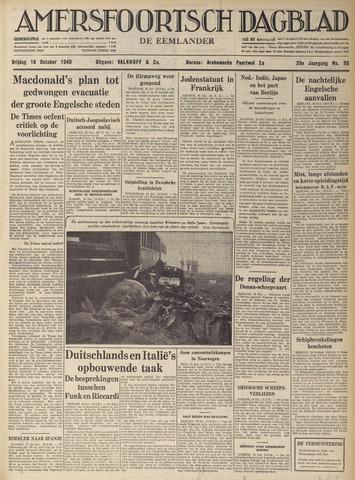 Amersfoortsch Dagblad / De Eemlander 1940-10-18