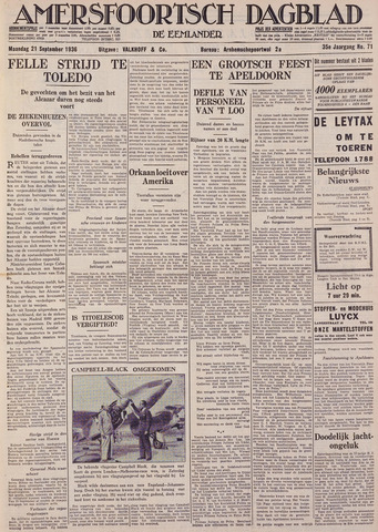 Amersfoortsch Dagblad / De Eemlander 1936-09-21
