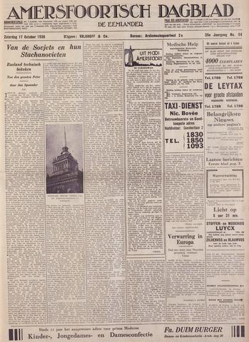 Amersfoortsch Dagblad / De Eemlander 1936-10-17