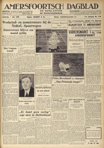 Amersfoortsch Dagblad / De Eemlander 1939-06-01