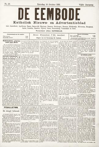 De Eembode 1891-10-10