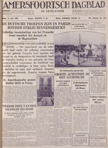 Amersfoortsch Dagblad / De Eemlander 1940-06-14