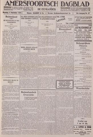 Amersfoortsch Dagblad / De Eemlander 1934-09-17