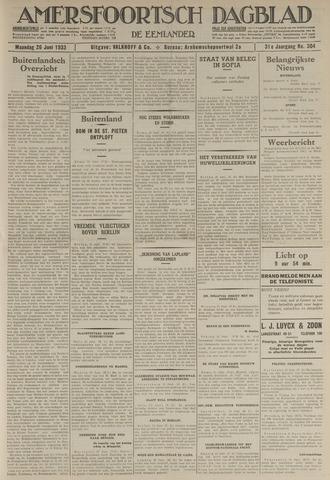Amersfoortsch Dagblad / De Eemlander 1933-06-26