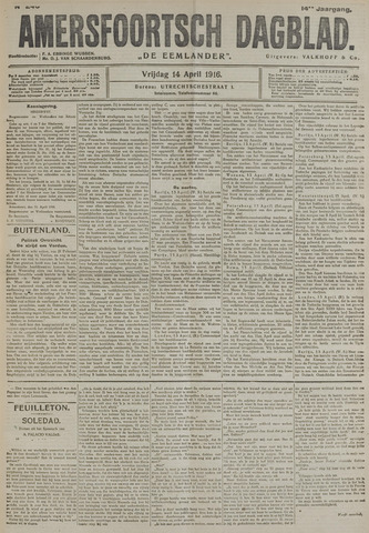 Amersfoortsch Dagblad / De Eemlander 1916-04-14