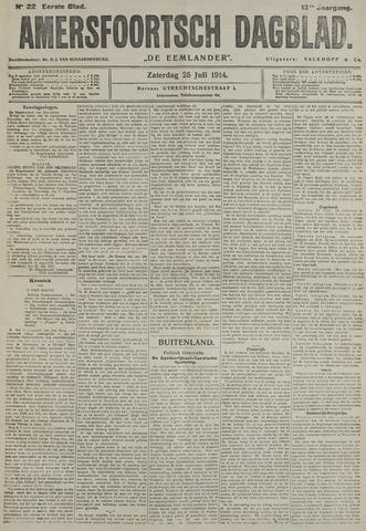 Amersfoortsch Dagblad / De Eemlander 1914-07-25