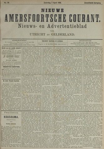 Nieuwe Amersfoortsche Courant 1888-04-07