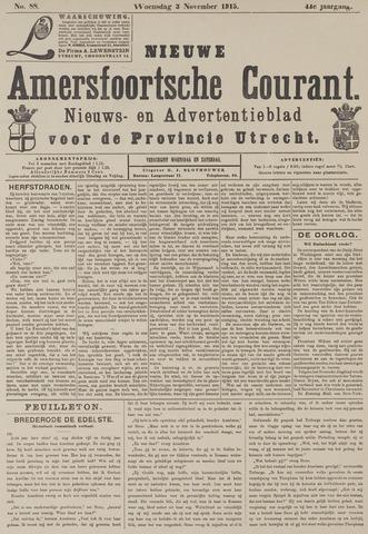 Nieuwe Amersfoortsche Courant 1915-11-03