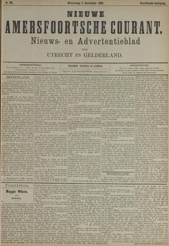 Nieuwe Amersfoortsche Courant 1885-12-02