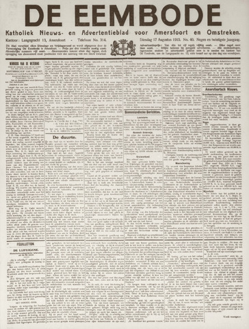 De Eembode 1915-08-17