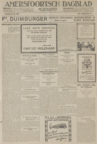 Amersfoortsch Dagblad / De Eemlander 1929-07-13