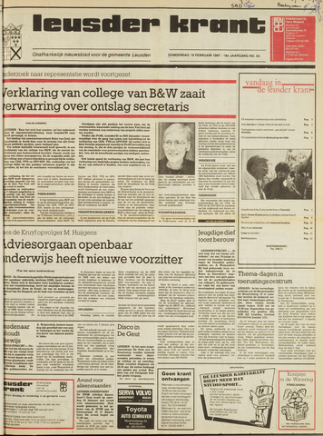 Leusder Krant 1987-02-19