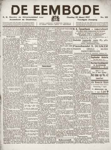 De Eembode 1927-03-22