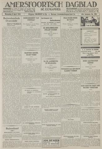 Amersfoortsch Dagblad / De Eemlander 1931-04-08