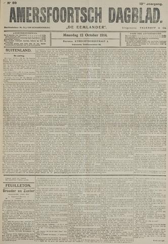 Amersfoortsch Dagblad / De Eemlander 1914-10-12