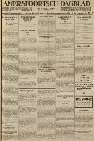 Amersfoortsch Dagblad / De Eemlander 1932-09-29