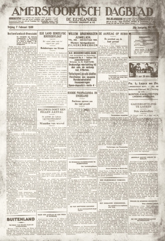 Amersfoortsch Dagblad / De Eemlander 1930-02-07