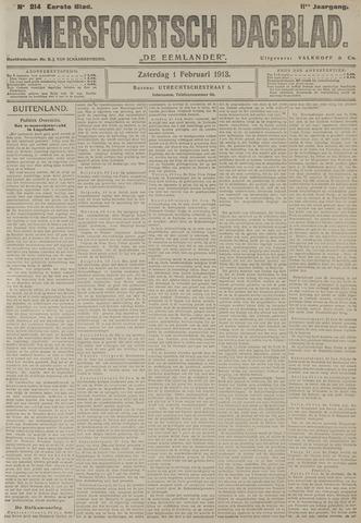 Amersfoortsch Dagblad / De Eemlander 1913-02-01