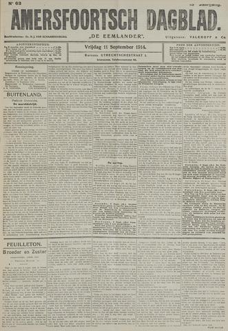 Amersfoortsch Dagblad / De Eemlander 1914-09-11