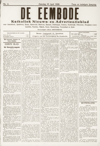 De Eembode 1908-04-25