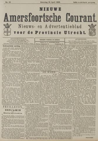 Nieuwe Amersfoortsche Courant 1909-04-24