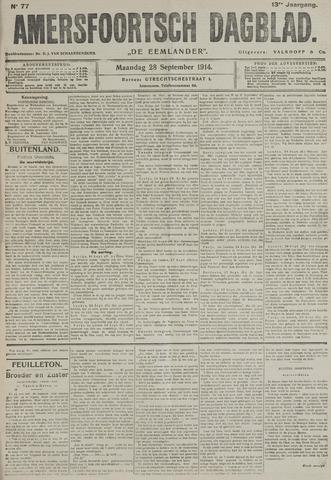 Amersfoortsch Dagblad / De Eemlander 1914-09-28