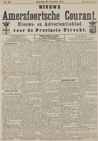 Nieuwe Amersfoortsche Courant 1919-11-22