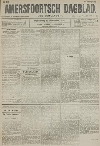 Amersfoortsch Dagblad / De Eemlander 1914-11-12